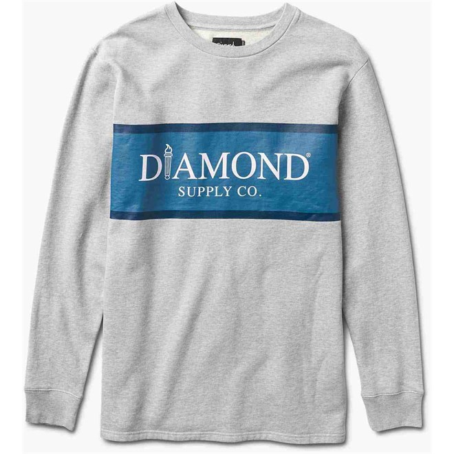 mikina DIAMOND - Mayfair Fleece Top Heather Grey (HTGR)