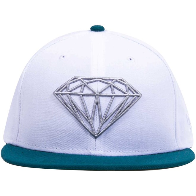 kšiltovka DIAMOND - Brilliant Fitted White Wht (WHT)
