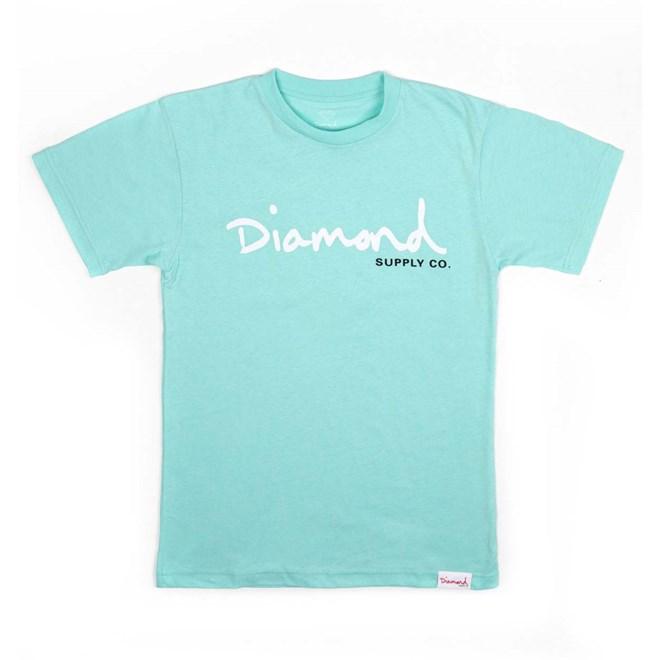 triko DIAMOND - Og Script Tee - Core Diamond Blue (DBLU)