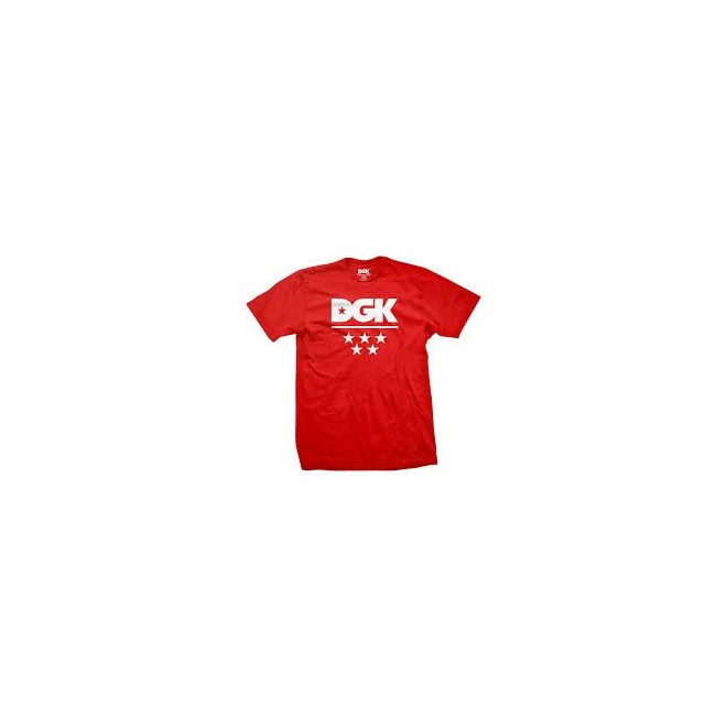 triko DGK - All Star Tee Red (RED)