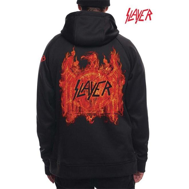 mikina 686 - Slayer Bonded Flc Pullover Black (BLK)