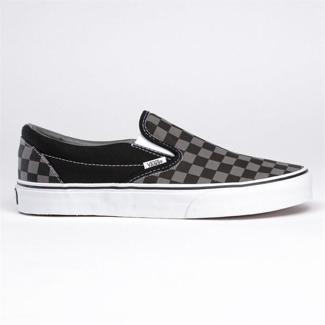boty VANS - Vans Classic Slip-On black pewter checkerboard (BPJ)