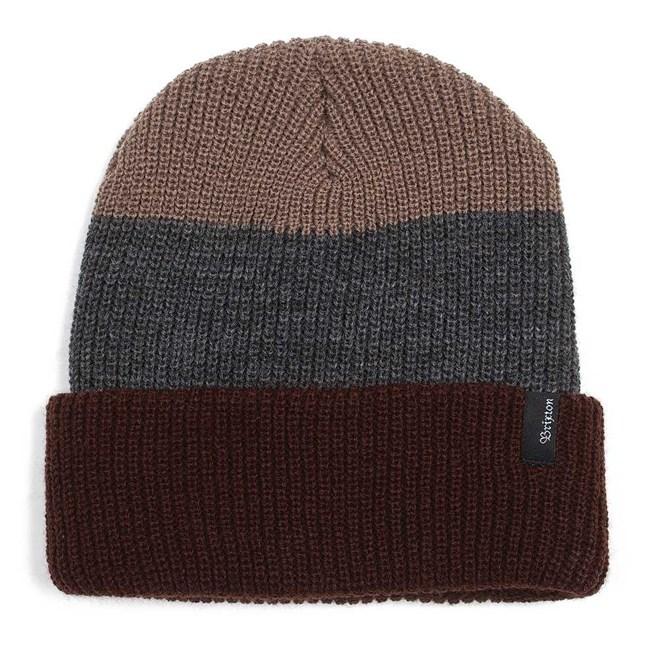 kulich BRIXTON - Heist Three Stripe Brown/Charcoal (0449)