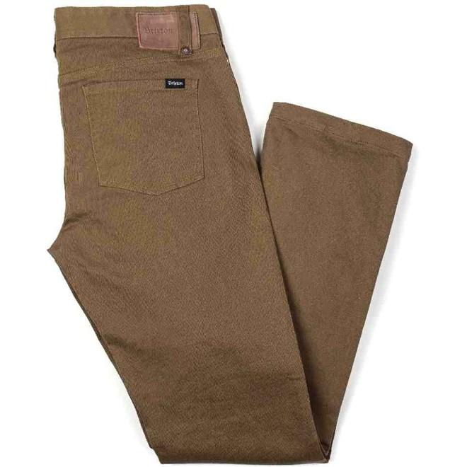kalhoty BRIXTON - Reserve 5-Pckt Dark Khaki 0623 (0623)