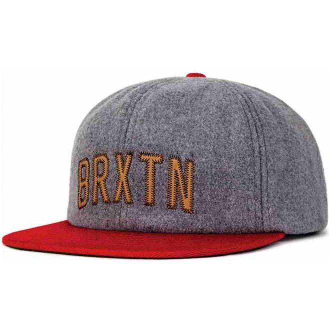kšiltovka BRIXTON - Hamilton Cap Heather Grey/Red (0338)