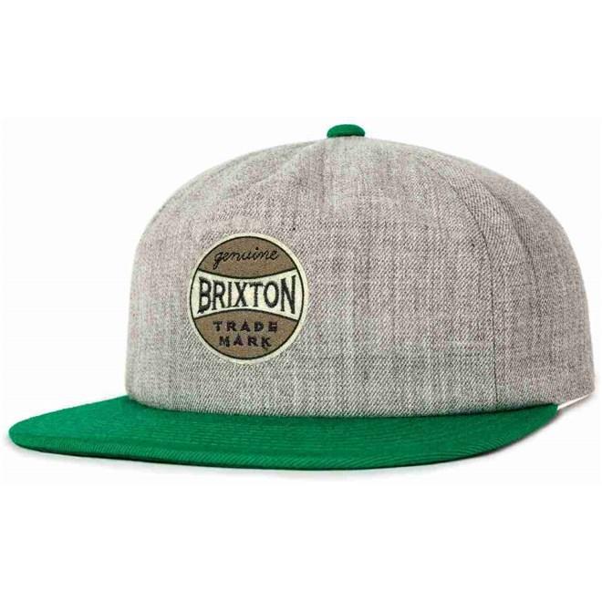 kšiltovka BRIXTON - Humphrey Cap Heather Grey/Green (0381)