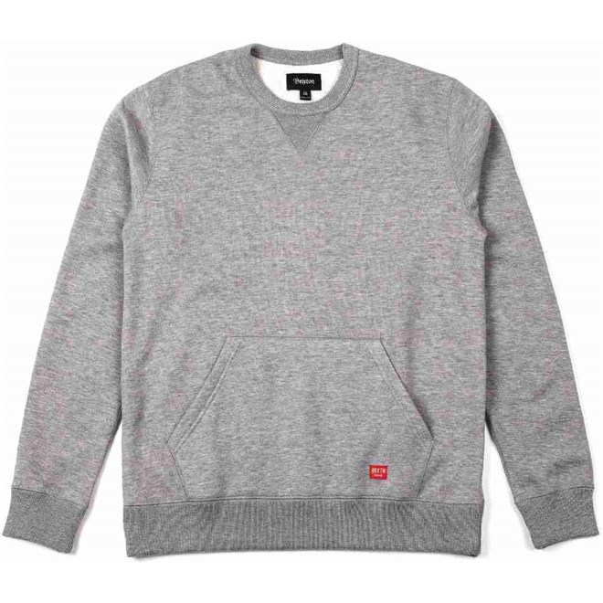 mikina BRIXTON - Hoover Crew Heather Grey 0304 (0304)