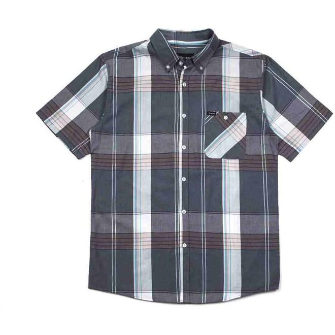 košile BRIXTON - Howl S/S Woven Slate Blue (0850)