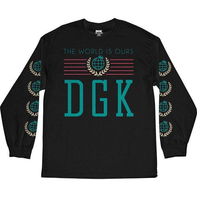 koszulka DGK - Crest Black (BLACK)
