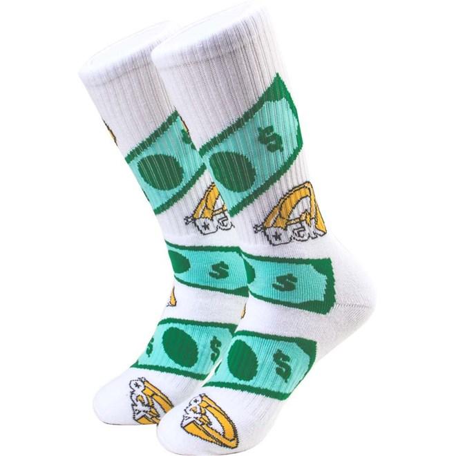 ponožky DGK - Festive Crew Sock Pair White (WHITE)