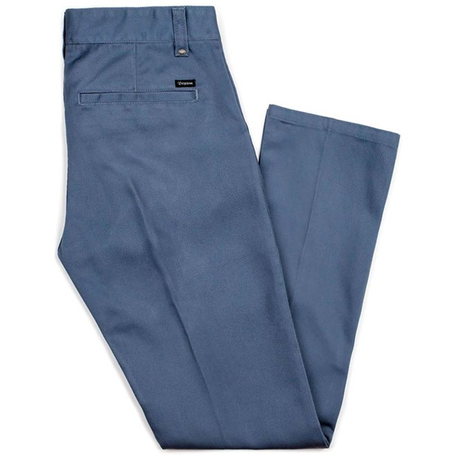 kalhoty BRIXTON - Fleet Rgd Chino Pant Grey Blue (GYBLU)