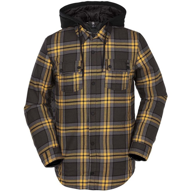 bunda VOLCOM - Field Ins. Flannel Vintage Black (VBK)