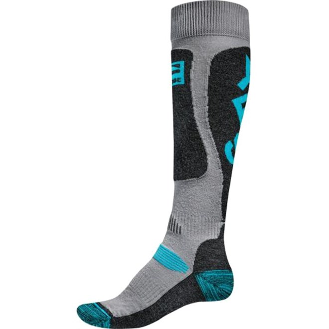 ponožky GLOBE - Yes/Globe Pow Pow Sock  Grey/Blue (GREYBLUE)