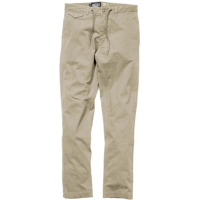 kalhoty GRIZZLY - Grizzly Refuge Chinos British Khaki (BKHA)