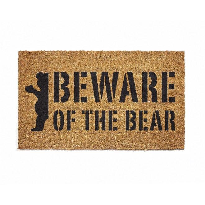 rohožka GRIZZLY - Beware Doormat Natural (NAT)