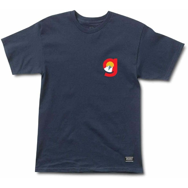triko GRIZZLY - Higher State S/S Tee Navy (NVY)
