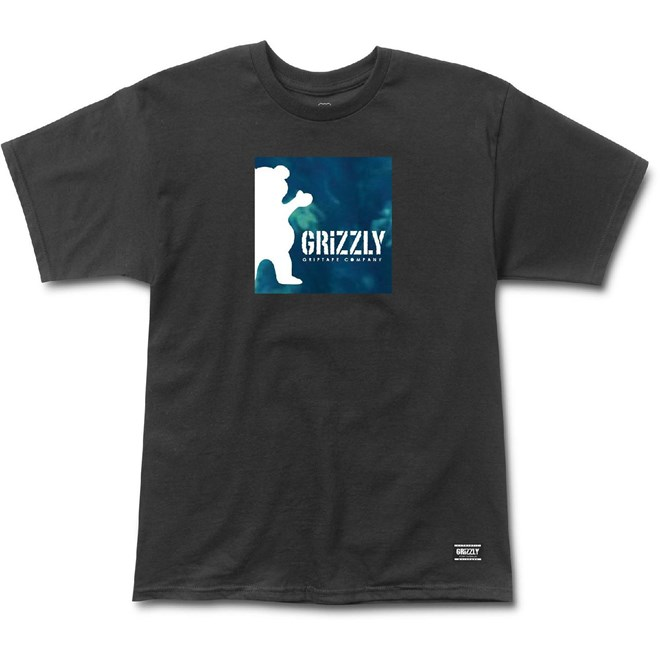 triko GRIZZLY - Deep Water Tee Black (BLK)