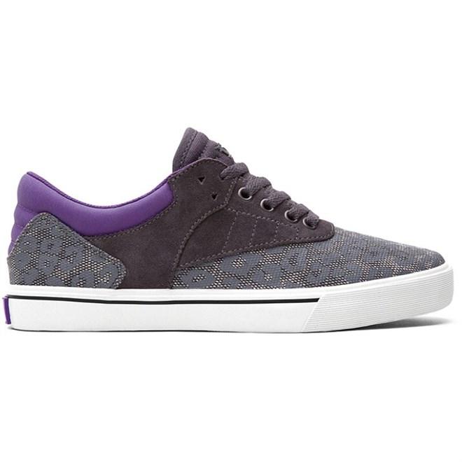 boty SUPRA - Spectre - Griffin Lowt Grey Leopard/Purple - White (GLP)