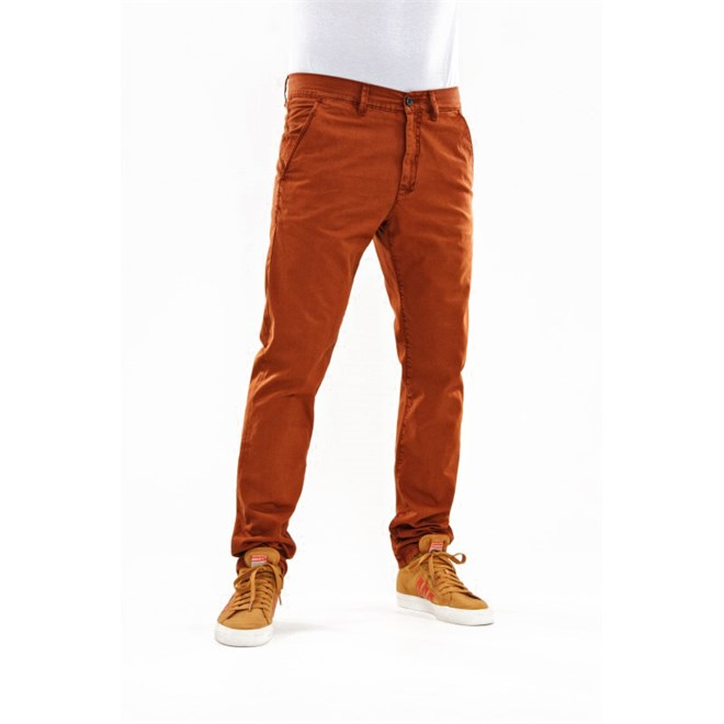 kalhoty REELL - Grip Tapered Chino Burned Orange (BURNED ORG)