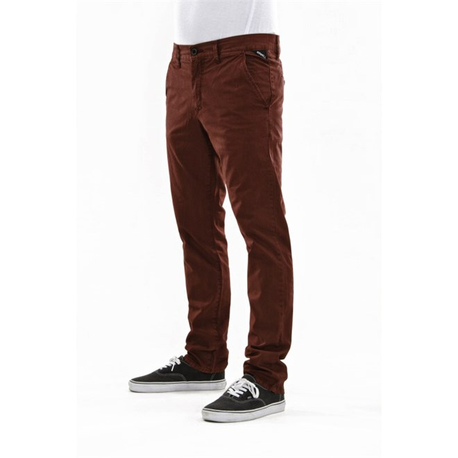 kalhoty REELL - Grip Tapered Chino Wine Red (WINE RED)