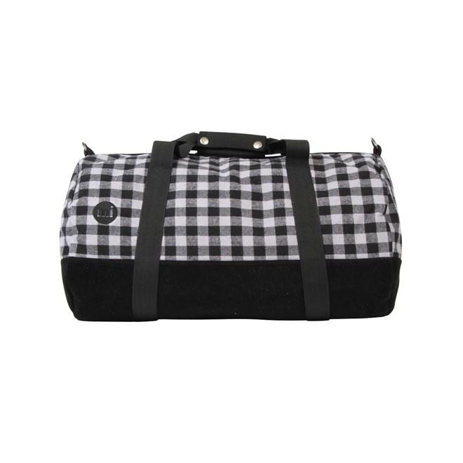 cestovní taška MI-PAC - Duffel Gingham Grey/Black (A08)