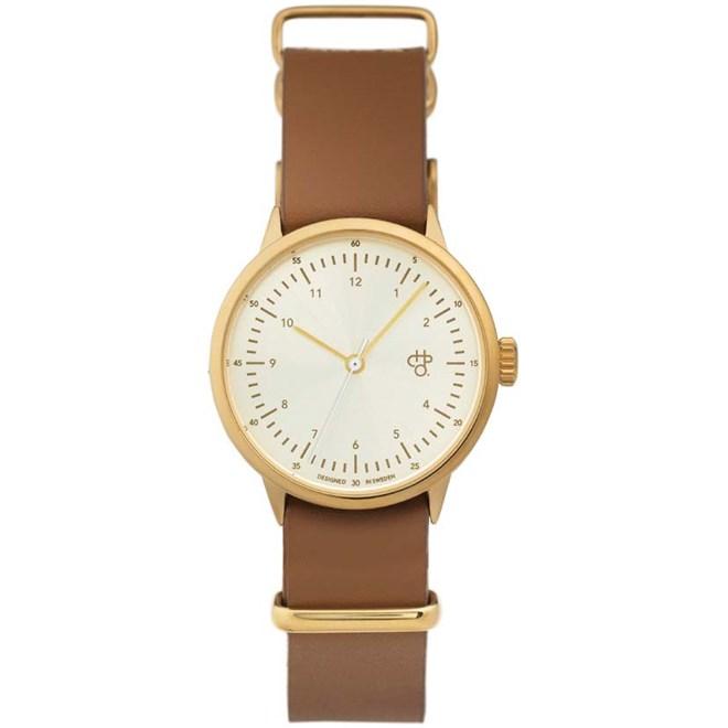 hodinky CHPO - Harold Mini Gold Gold/Brown (GOLD/BROWN)