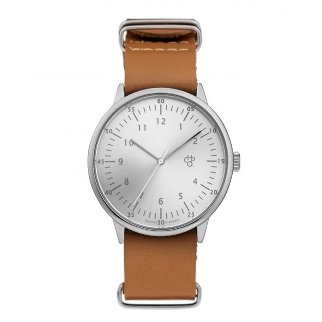 hodinky CHPO - Harold Silver/Brown (SILVER/BROWN)