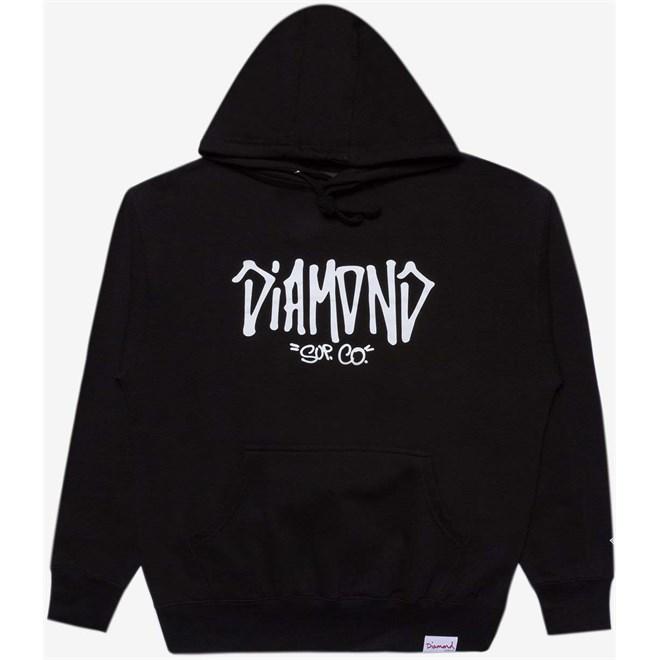 mikina DIAMOND - Sup Co Hoody Black (BLK)
