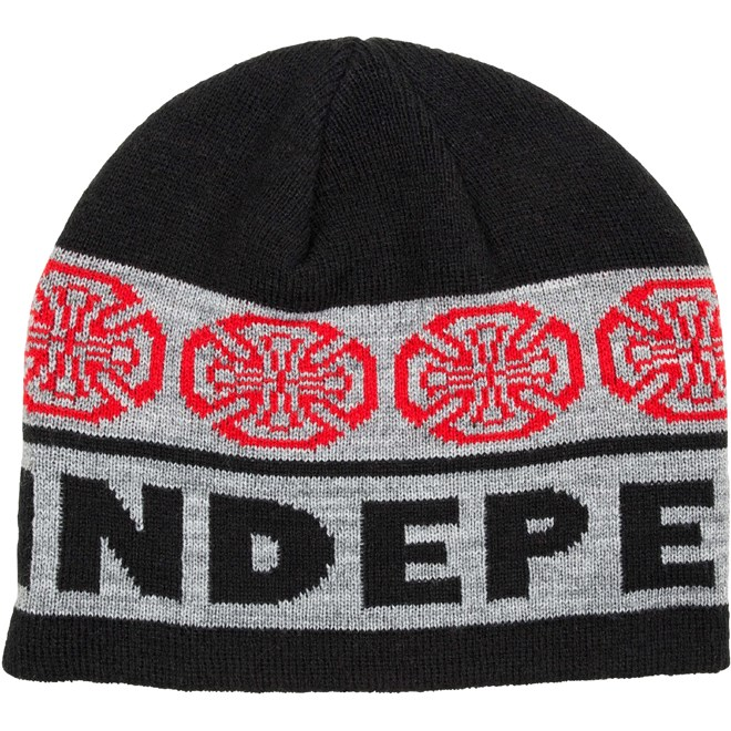 kulich INDEPENDENT - Woven Crosses Beanie BlackCharcoal (BLACK-CHARCOAL)