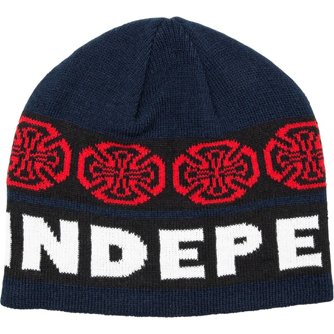 kulich INDEPENDENT - Woven Crosses Beanie BlueWhite (BLUE-WHITE)