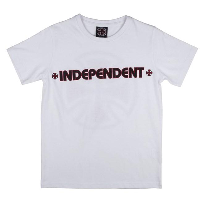 triko INDEPENDENT - Bar Cross White (WHITE)