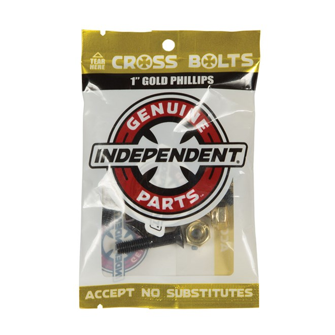 šroubky INDEPENDENT - Genuine Parts Phillips Hardware Black/Gold Bx12 Pks/8 (88781)