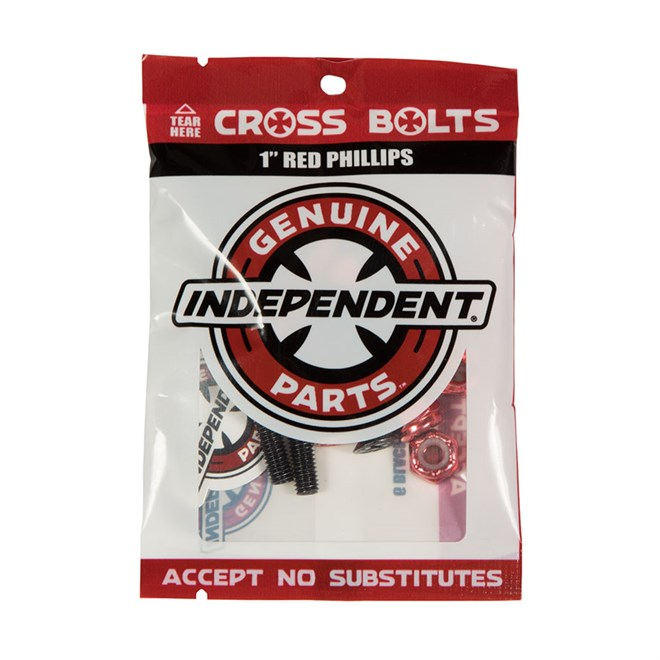 šroubky INDEPENDENT - Genuine Parts Phillips Hardware Black/Red Bx12 Pks/8 (88773)