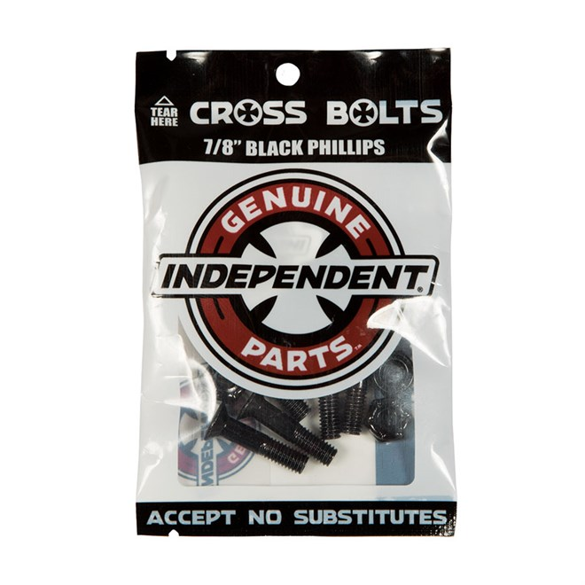 šroubky INDEPENDENT - Genuine Parts Phillips Hardware Black Bx12 Pks/8 (88760)