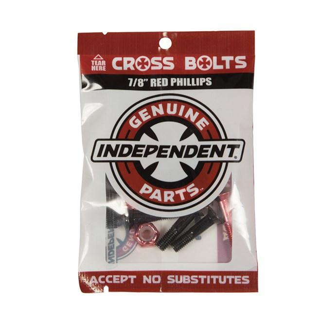 šroubky INDEPENDENT - Genuine Parts Phillips Hardware Black/Red Bx12 Pks/8 (88772)
