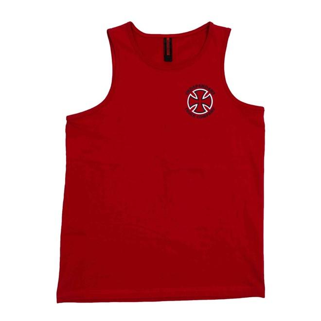 tílko INDEPENDENT - Classic Bauhaus Cross Cardinal Red Cardinal Red (CARDINAL RED)