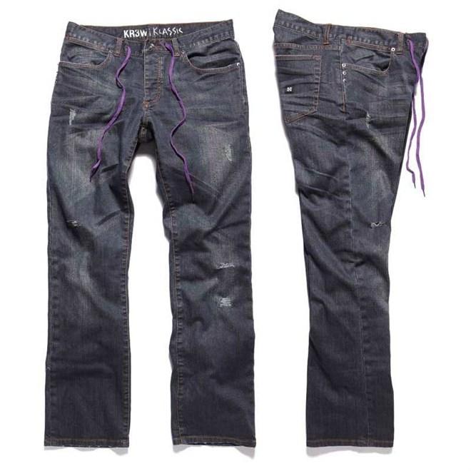 kalhoty KREW - Klassic Tk (BLU)