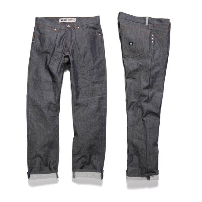 kalhoty KREW - Klassics Basics (BLU)