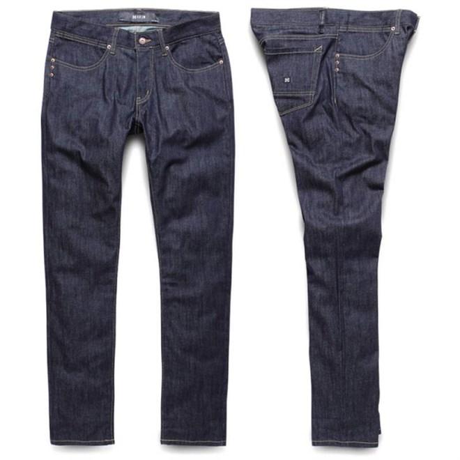 kalhoty KREW - K Sklim Taper Denim Raw Blue (RAW)