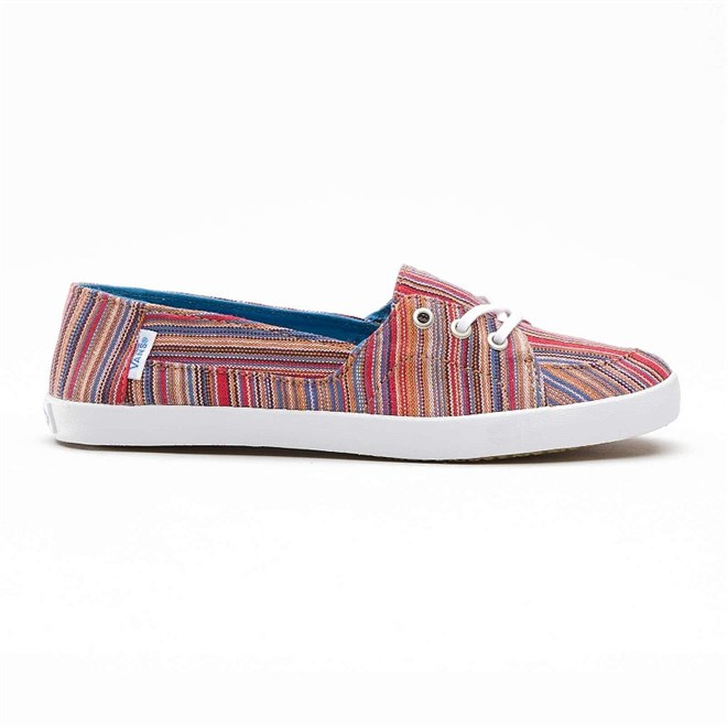 boty VANS - Palisades Vulc (Stripes) Red (7QC)