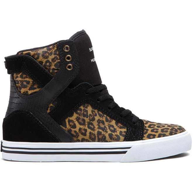 boty SUPRA - Kids-Skytop High Black/Cheetah-White (BCT)