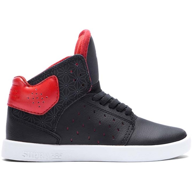 boty SUPRA - Kids Atom Black/Red-Black (BKR)