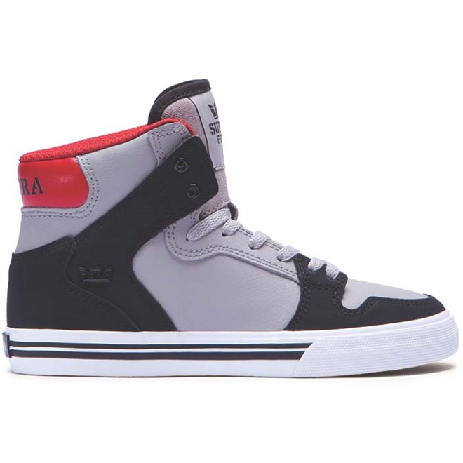 boty SUPRA - Kids Vaider Black/Grey/Red-White (BGR)