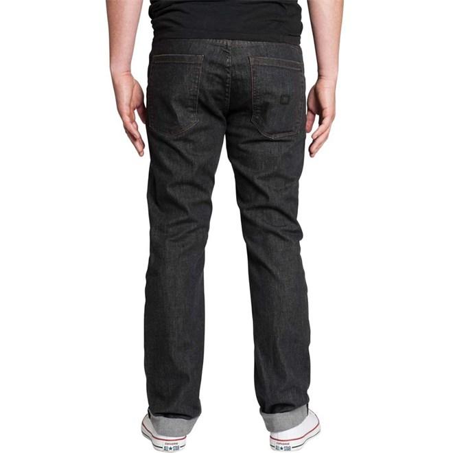 kalhoty KREW - K Slim Dark Black (BLD)
