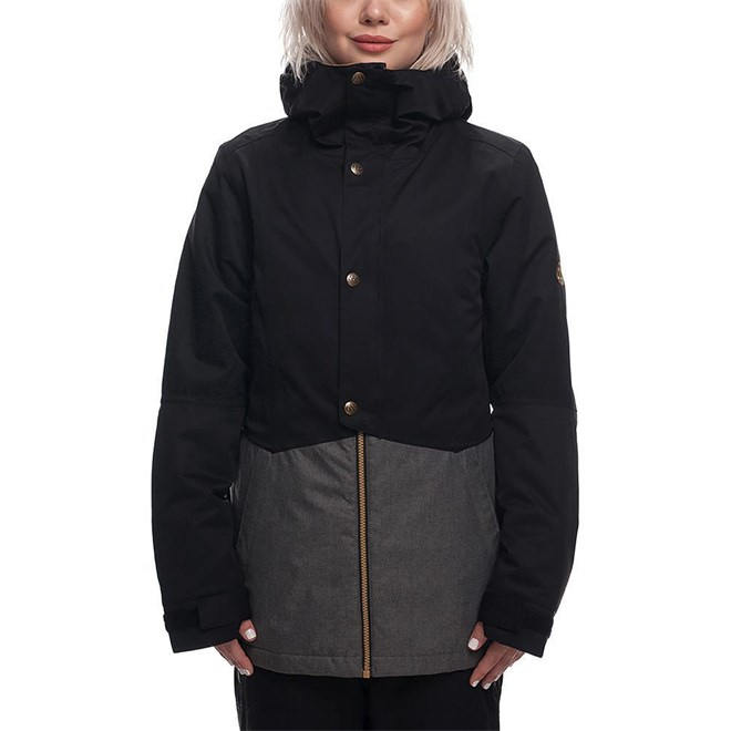 Jacket 686 - Rumor Insl Jkt Grey Mlng Clrblk (GRY)