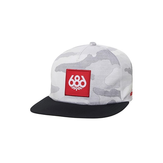 686 - Knockout Snapback Hat White Camo (WHT)