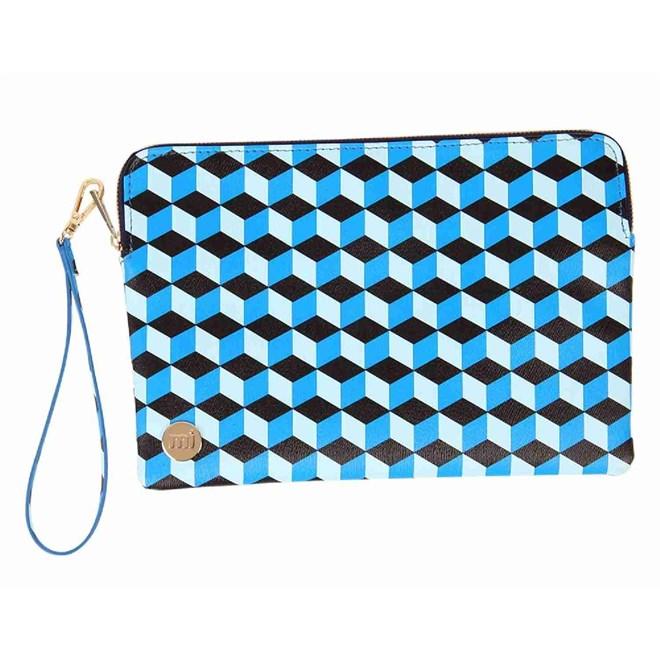peněženka MI-PAC - Lg Pouch  Cubic Blue/Aqua (003)