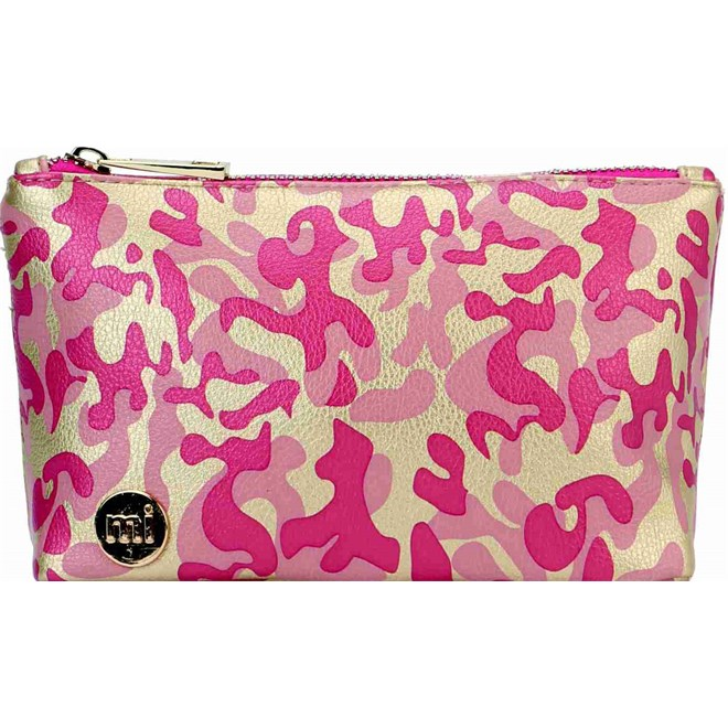 taška na make up MI-PAC - Make Up Bag Metallic Camo Gold/Pink (015)