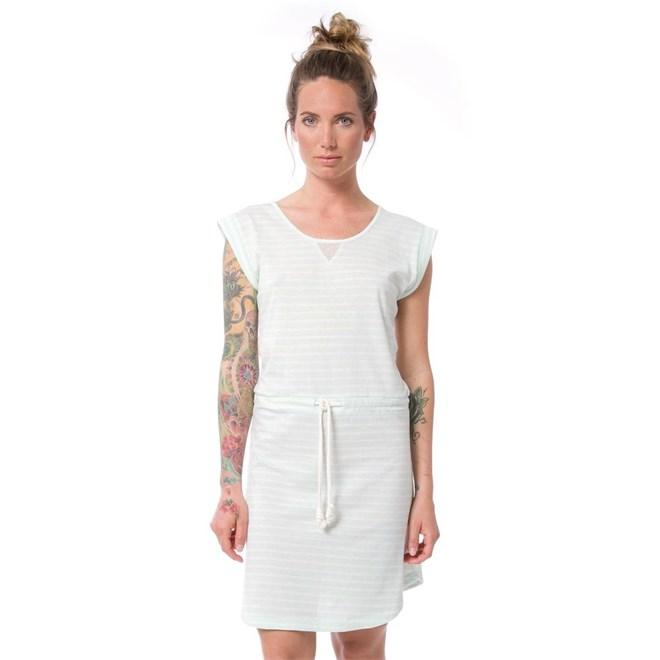 šaty NIKITA - Dalvik Dusty Aqua Stripe (DAS)
