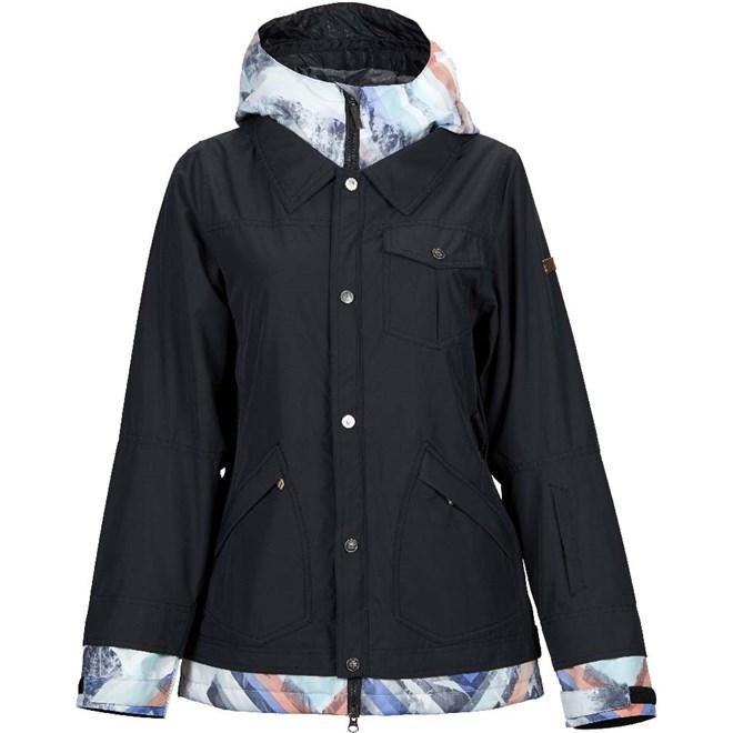 bunda NIKITA - Cypress Stretch Jacket Black- Geo Storm (BGE)